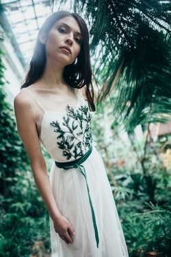 White-wedding-dress-with-embroidery-Spruce-branches