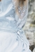 Blue lace wedding dress